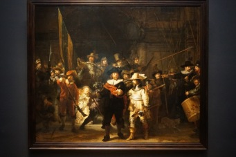 one of the most famoust paintings in the world by Rembrandt - The Night Watch